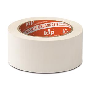 3818 PVC masking tape geribbeld wit